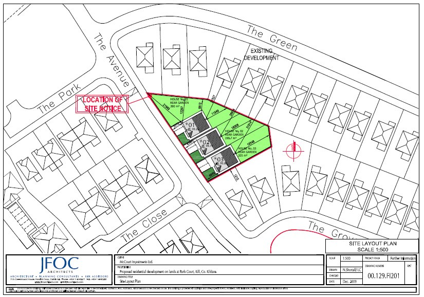 """""""Ready To Go Development Site For 3 Houses"""" Earls Court, Kill, Co. Kildare"""