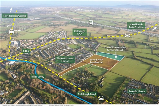 Simmonstown, Celbridge, Co. Kildare – Approx. 17 Acres (6.9 Ha) – 10.5 Acres Zoned New Residential P