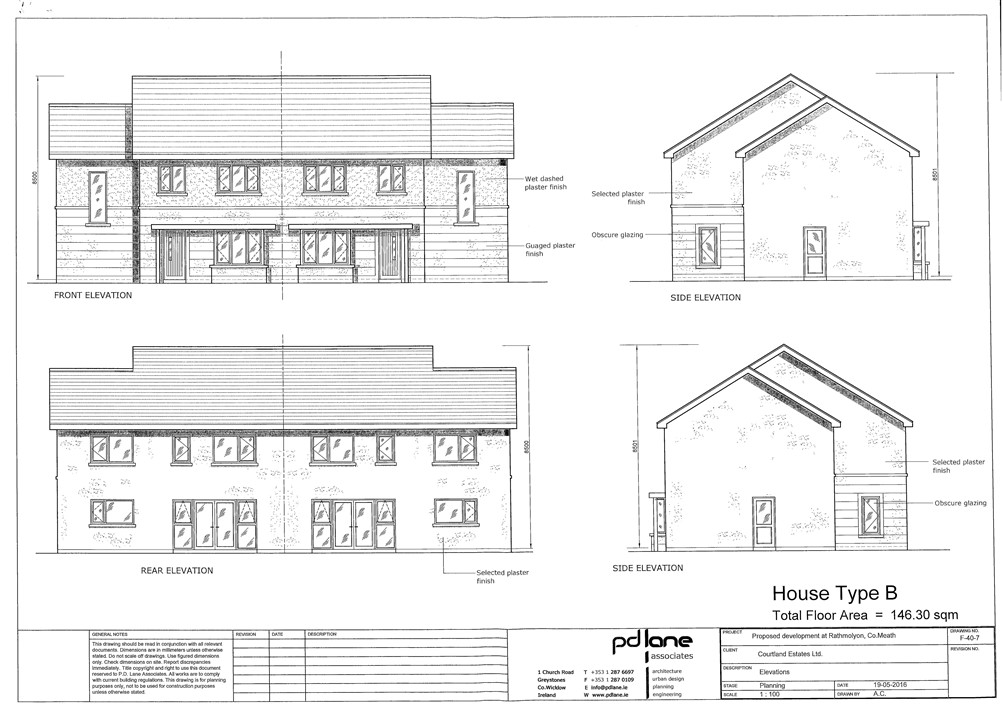 Site with FPP for 16 Houses, Rathmolyon, Co. Meath –  Approx. 1.85 acre site (0.74 Ha)