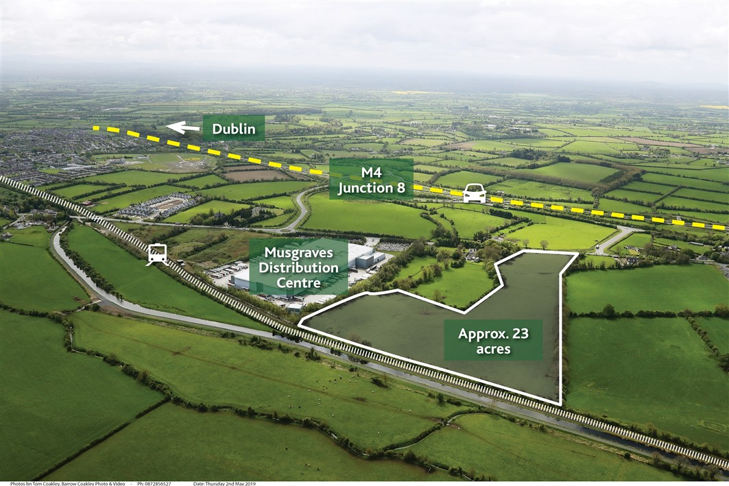 Boycetown, Kilcock, Co. Kildare – approx. 23 acres (zoned ind./warehousing)