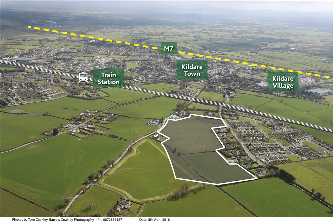Site with F.P.P. for 187 units at Southgreen, Kildare Town, Co. Kildare