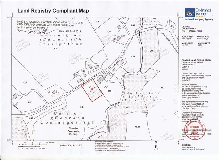 C.0.7 Acre Site At Coolnagearagh, Coachford, Cork