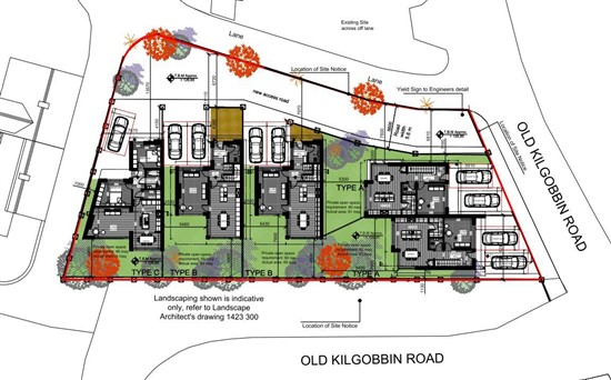 Site With Full Planning Permission For Five Houses Greenacres, Old Kilgobbin Road, Sandyford, Dublin