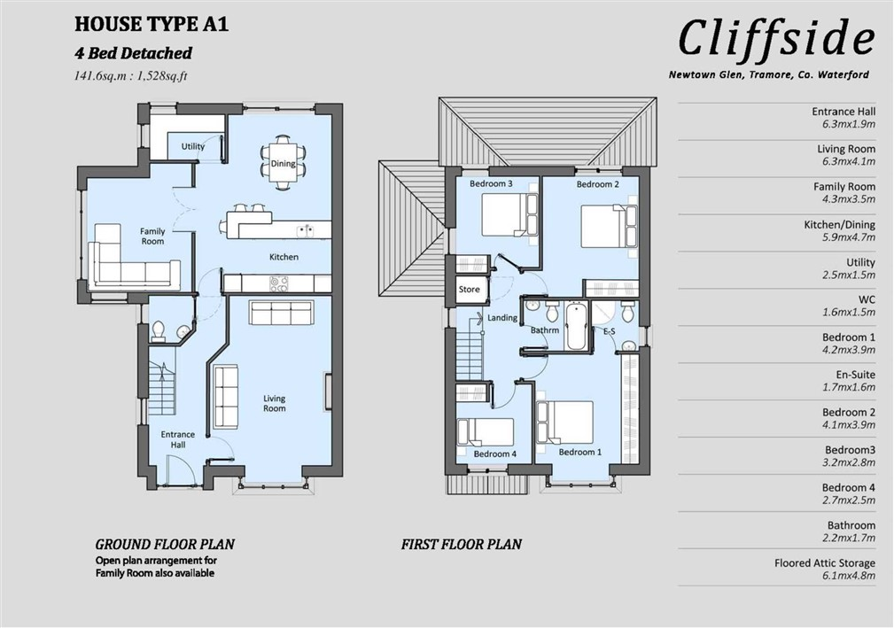 House Type A1 – 4 Bedroomed Detached