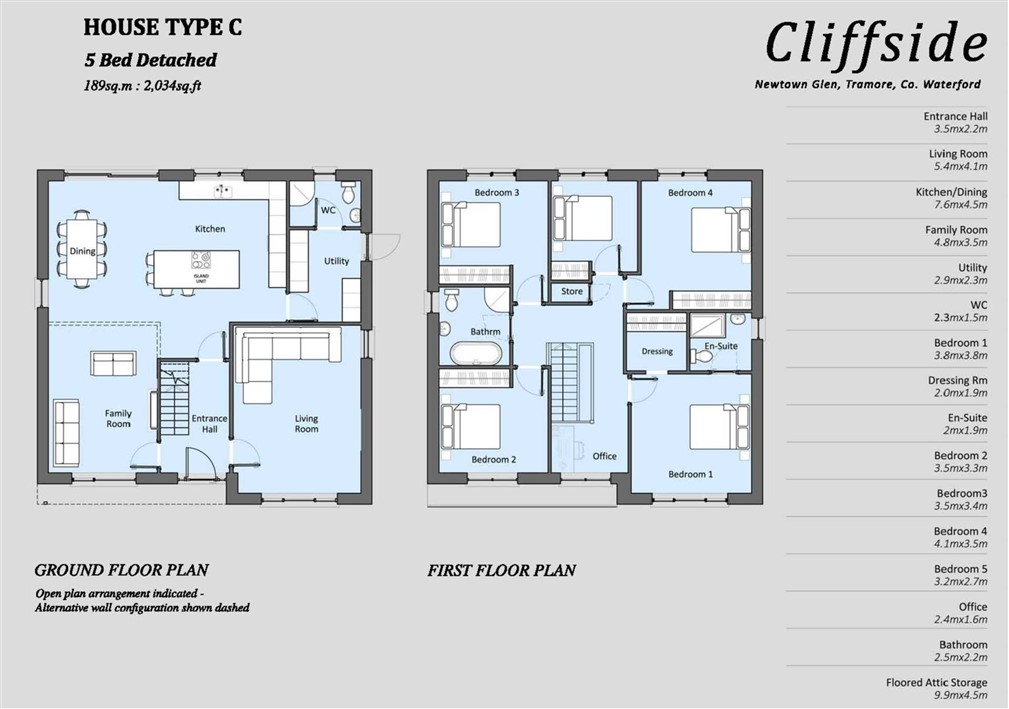 House Type C – 5 Bedroomed Detached.