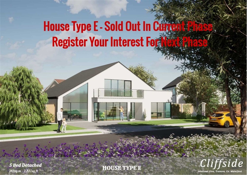 House Type E – 5 Bedroomed Detached.
