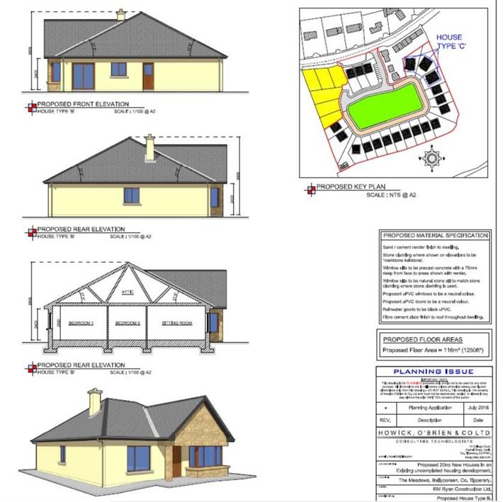 Development Land The Meadows, Ballyporeen FPP, E21 PV02
