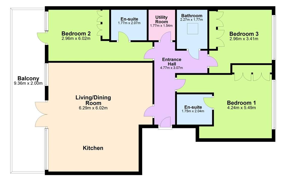 Apartment 64 Eustace Court, Culanor, Dun Laoghaire, County Dublin, A96 AH1F